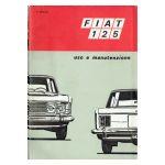 FIAT 125 Uso e manutenzione