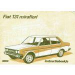 FIAT 131 Mirafiori instructieboekje